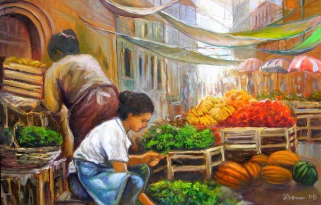 Mercado 4.1 Óleo Lienzo Paisaje