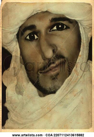 Tio Mauricio, en el Sahara Color (Química) Retrato
