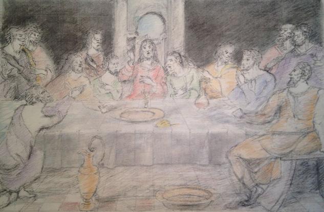 Estudio del antiguo 1993, boceto para  santa cena
