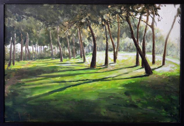 Cauce rio Turia Valencia Landscaping Oil Canvas