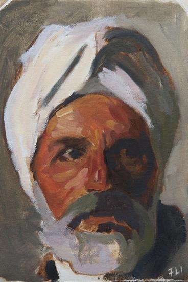 Head of an arab Lienzo Óleo Retrato