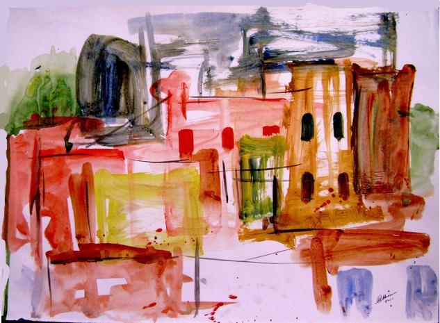 old city-6 Acrílico Papel Otros