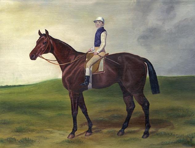 Race-horse Lienzo Óleo Animales