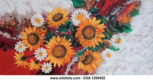Gerbera Floral Acrílico Lienzo