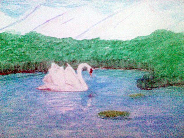 Cisne Animales Cera Papel