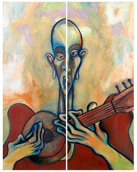 El señor de la guitarra Otros Óleo Retrato