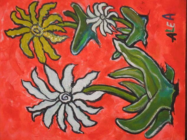 flores  Acrílico Floral Lienzo