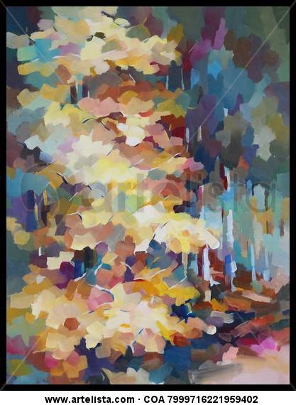 Luz en el bosque Panel Acrylic Landscaping