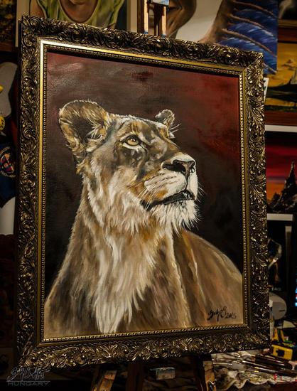 Queen Lienzo Óleo Animales