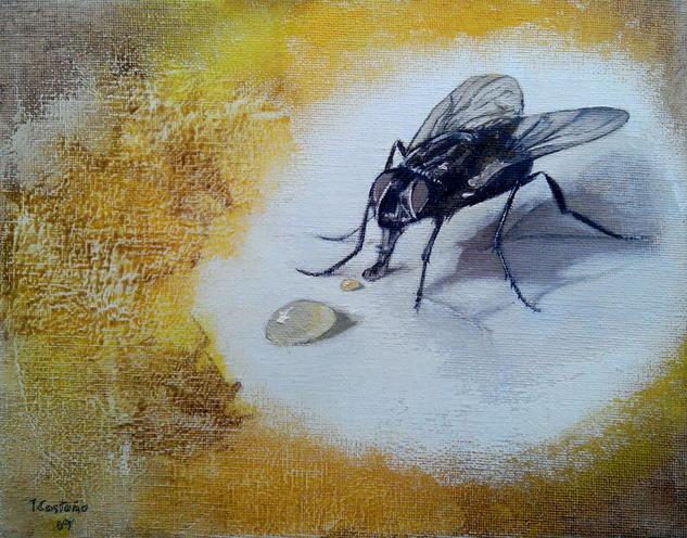 La mosca y la miel Lienzo Óleo Animales