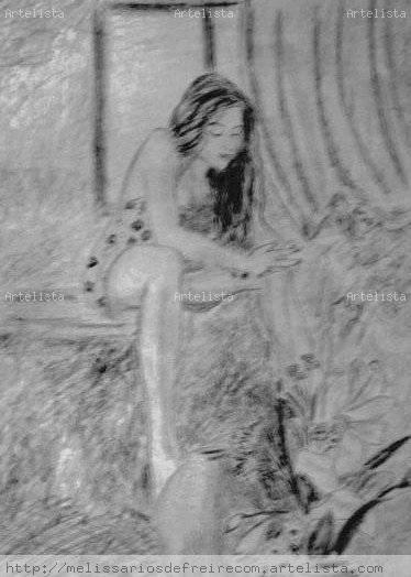 Mujer sentada Grafito Papel Otros