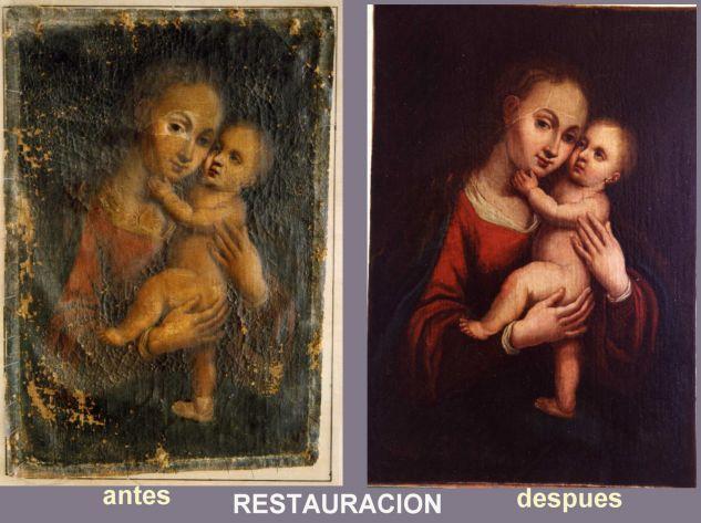 virgen maria con niño