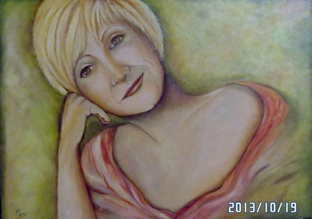 MONTSE Oil Portrait Canvas