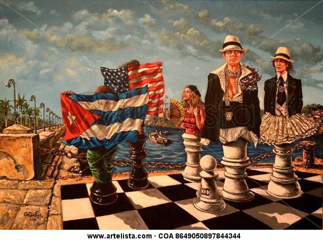 Cabalgata game Canvas Acrylic Marine Painting