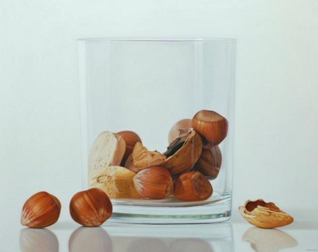 nuts in glass Still Life Paintings Canvas Oil