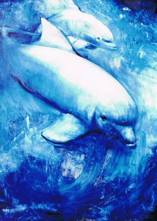 Delfines Óleo Animales Lienzo