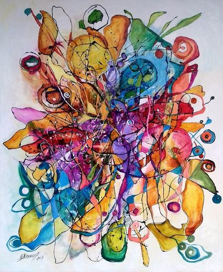 abstract Cu primavara la povesti Bissinger Otros Óleo Lienzo