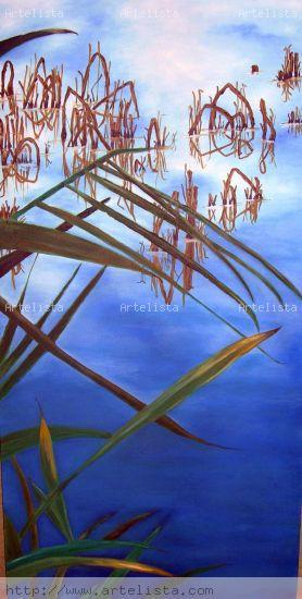 Grafias en el agua 1 Óleo Lienzo Paisaje
