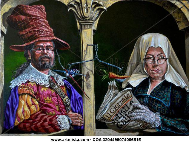 Artisti e galerie Lienzo Acrílico Retrato