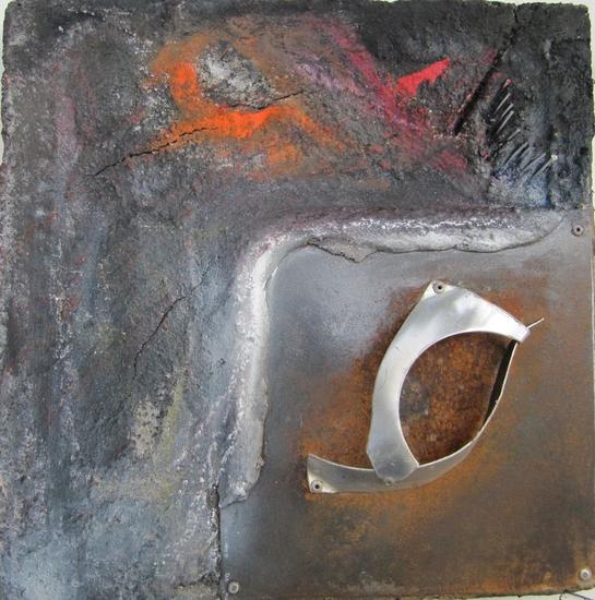 SERIE: AL FINAL DE LA TARDE 5-12 Metal Abstracta