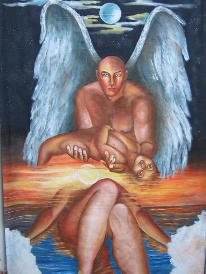 angeles caidos Tela Acrílico Desnudos