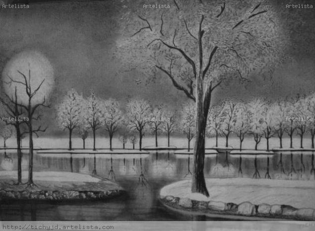 snow landscape Pencil