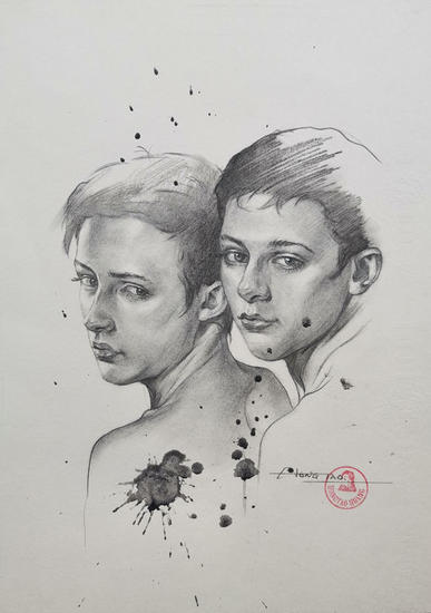 Drawing-Portrait of men#210411 Pencil