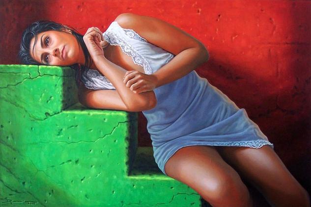 Descanso sobre la hierba II Lienzo Óleo Retrato