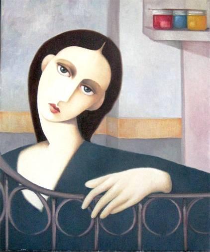 Gnossienne 2: retrato de modelo anónima Óleo Lienzo Figura