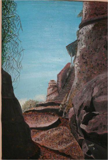 castillo de guayana Lienzo Óleo Paisaje