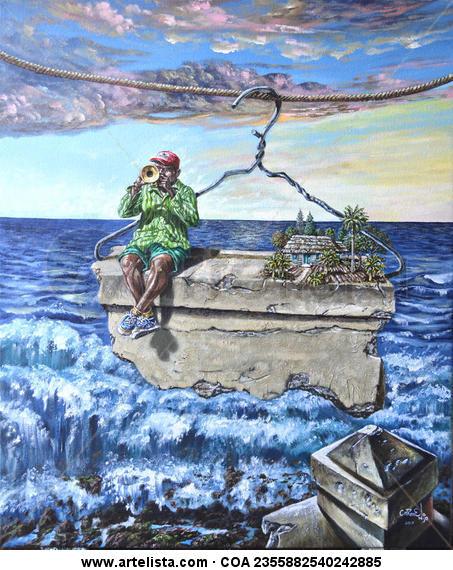 El Malecón habanero Lienzo Acrílico Paisaje