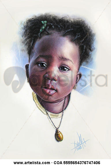 Niño de África 76 Mixed Media