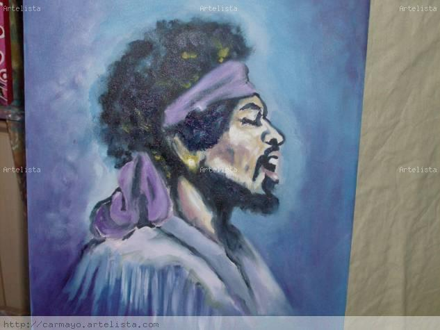 Jimi Hendrix Oil Canvas Portrait