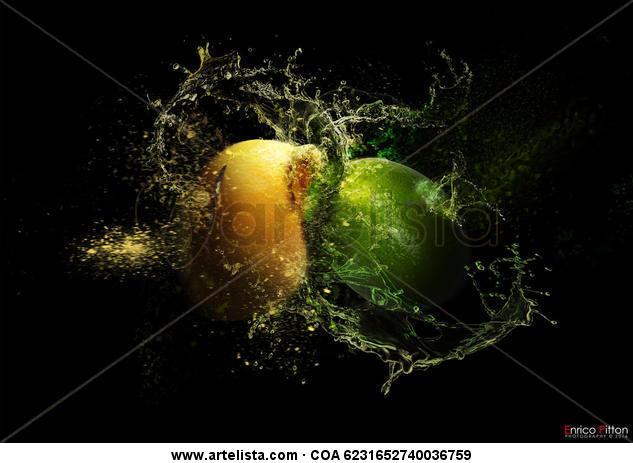 ENRICO PITTON - Lemon Crash Color (Digital) Bodegones