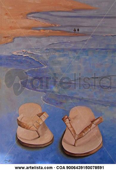 Sandalias en la playa