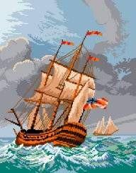 Freagata in furtuna Bordados Textil