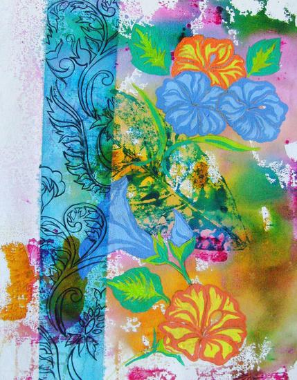 Forais II Floral Acrílico Tela
