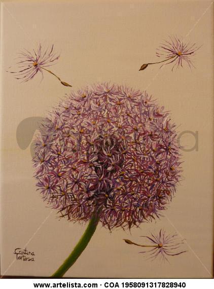 Pom-pom2 Lienzo Acrílico Floral