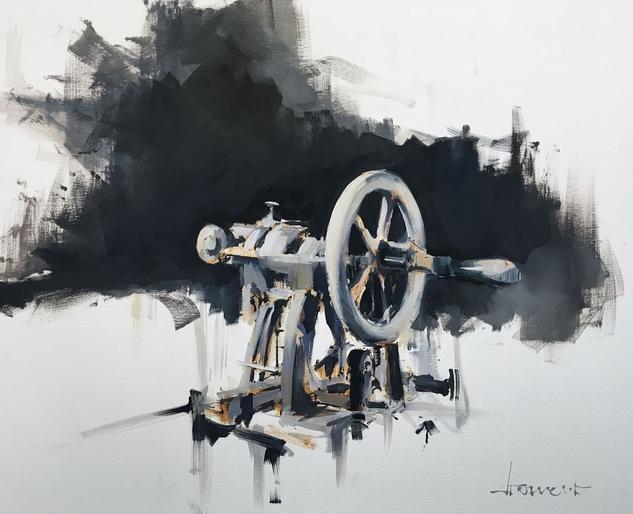 Maquina de coser Lienzo Óleo Otros
