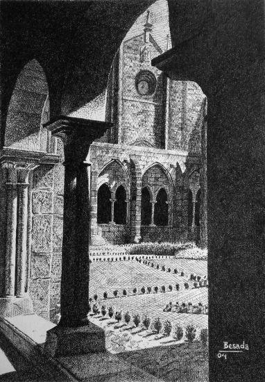 Claustro da Catedral de Tui Tinta