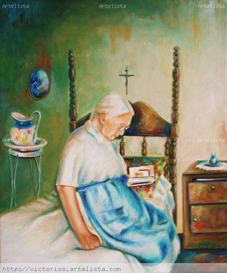 '' PSALM 23 '' Óleo Lienzo Retrato