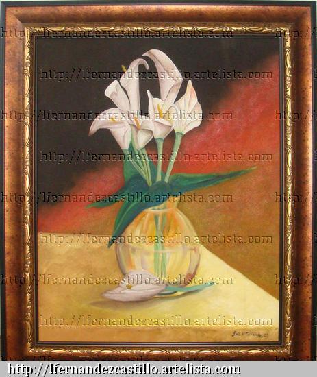 flores Oil Canvas Floral Painting
