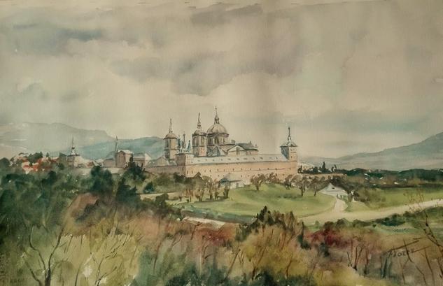 Monasterio de El Escorial Papel Acrílico Paisaje