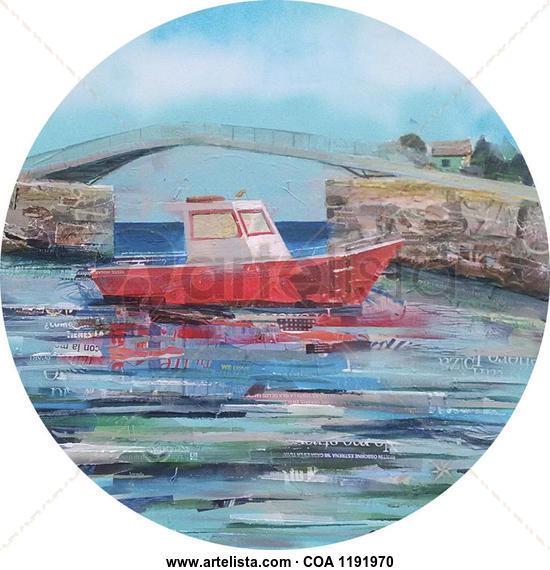Barco en Camariñas Marine Canvas