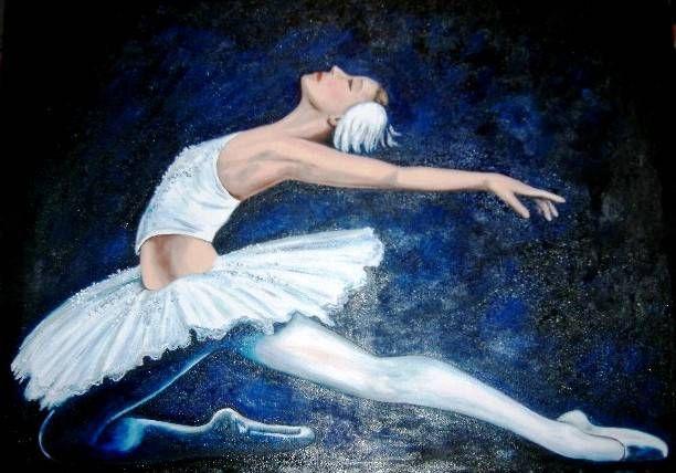 Bailarina de Ballet Óleo Lienzo Figura