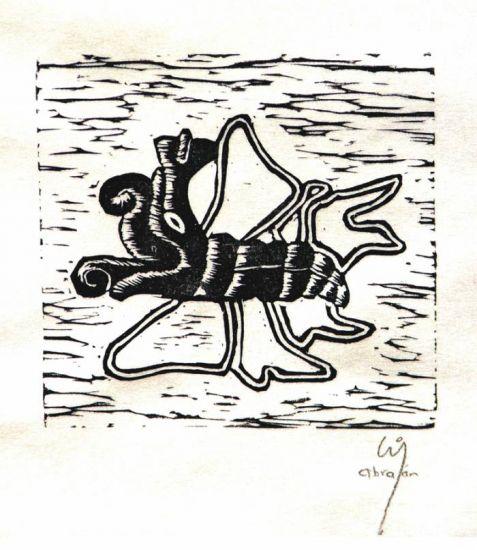 Mariposa Linograbado