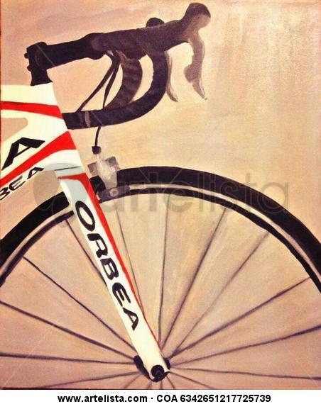 Bicicleta Orbea Lienzo Óleo Deportes