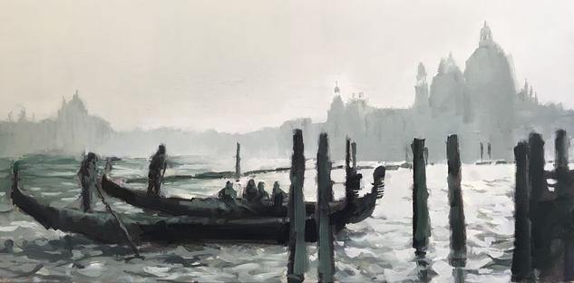 Venecia III Paisaje Lienzo Óleo