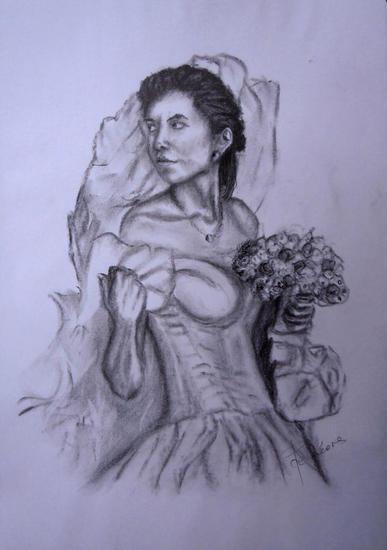 boceto 07-11 - de novia Carboncillo