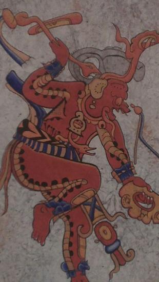 Chaak dios de la lluvia Lienzo Acrílico Figura